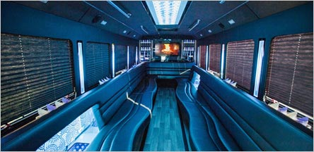 28 Passenger Party Bus Interior Napa