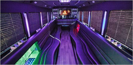 28 Passengers Party Bus Interior Napa