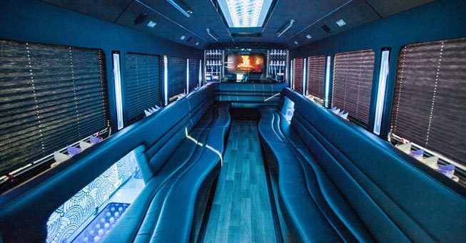 Napa 28 Passenger Party Bus Interior