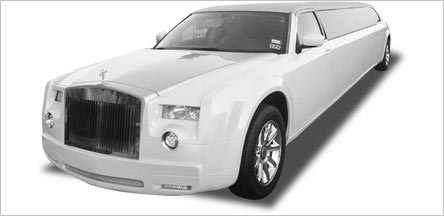 Napa Roll Royce Stretch Limo Exterior