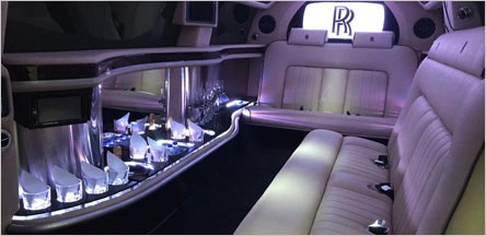 Napa Roll Royce Stretch Limo Interior