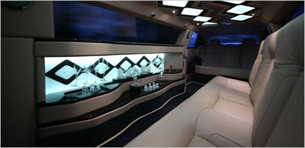 Roll Royce Stretch Limo Interior Napa